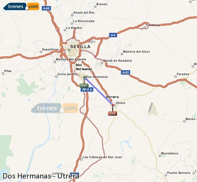 Ampliar mapa Comboios Dos Hermanas Utrera