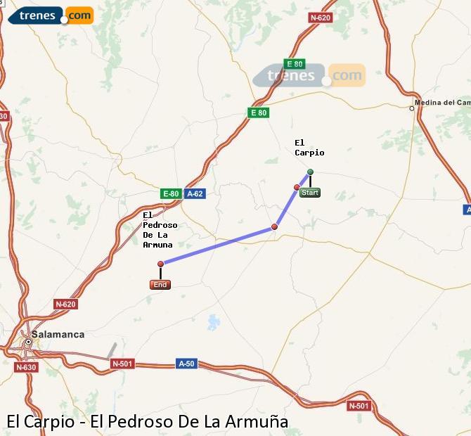 Ampliar mapa Trenes El Carpio El Pedroso De La Armuña