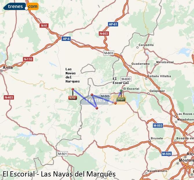 Ingrandisci la mappa Treni El Escorial Las Navas del Marqués