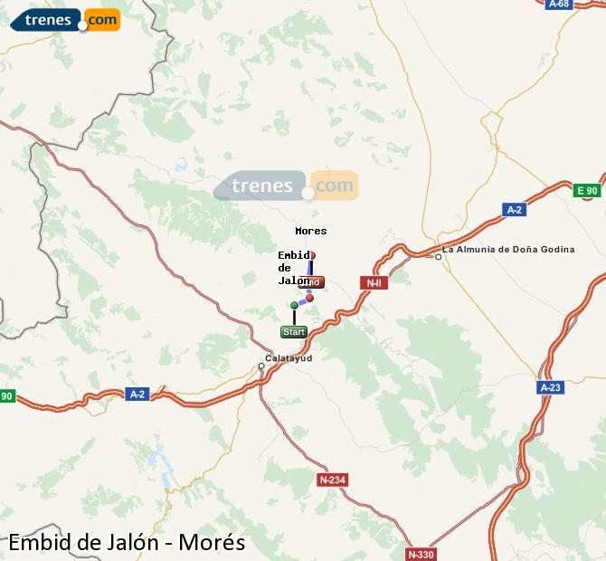 Ingrandisci la mappa Treni Embid de Jalón Morés