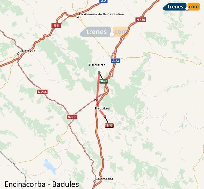 Enlarge map Trains Encinacorba to Badules