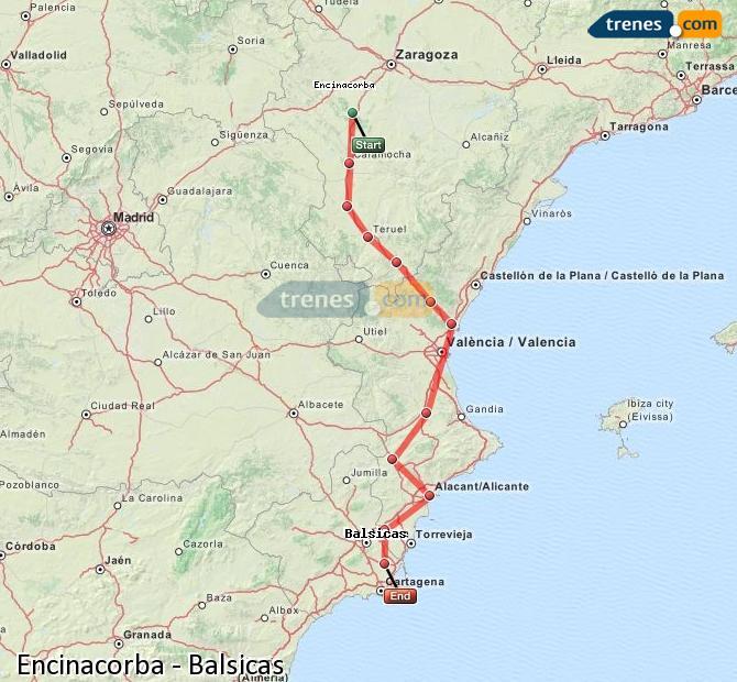 Enlarge map Trains Encinacorba to Balsicas