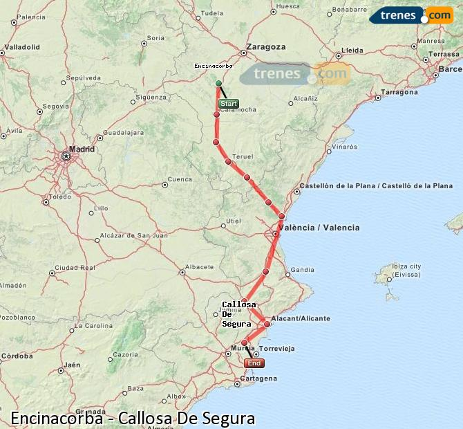 Enlarge map Trains Encinacorba to Callosa De Segura