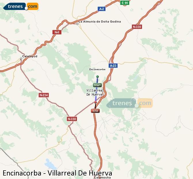 Ingrandisci la mappa Treni Encinacorba Villarreal De Huerva