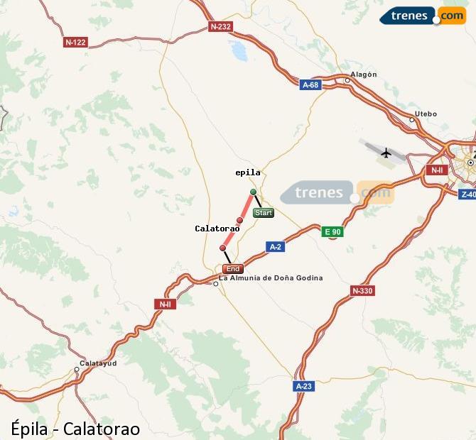 Ingrandisci la mappa Treni Épila Calatorao