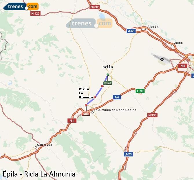 Karte vergrößern Züge Épila Ricla La Almunia