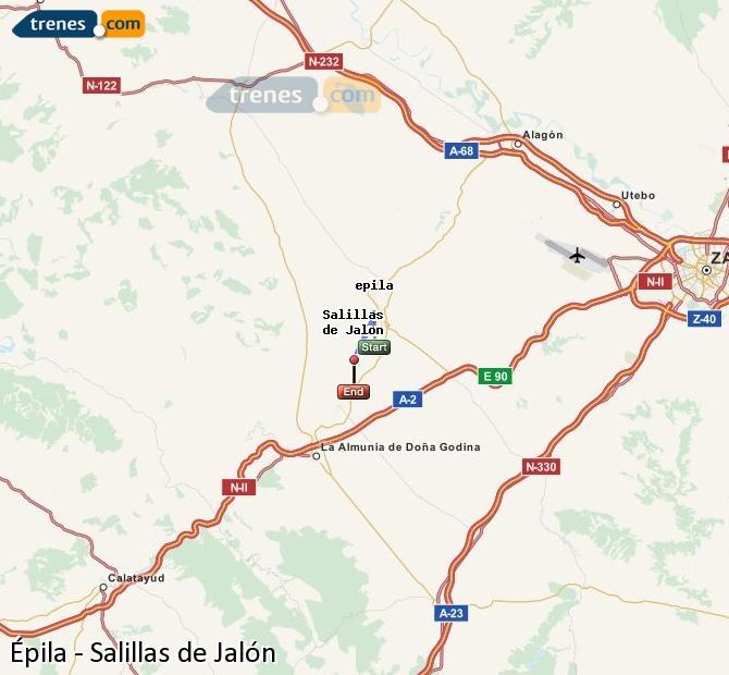 Karte vergrößern Züge Épila Salillas de Jalón