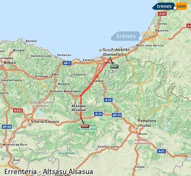Ampliar mapa Trenes Errenteria Altsasu Alsasua