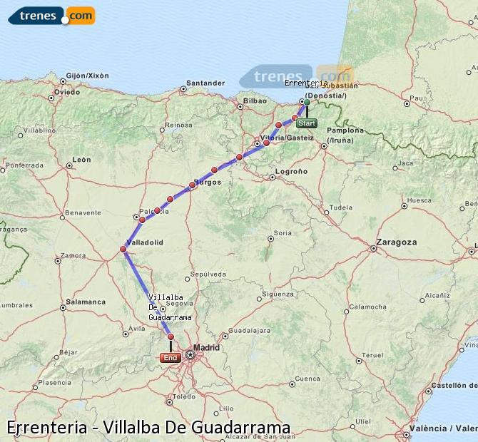 Karte vergrößern Züge Errenteria Villalba De Guadarrama