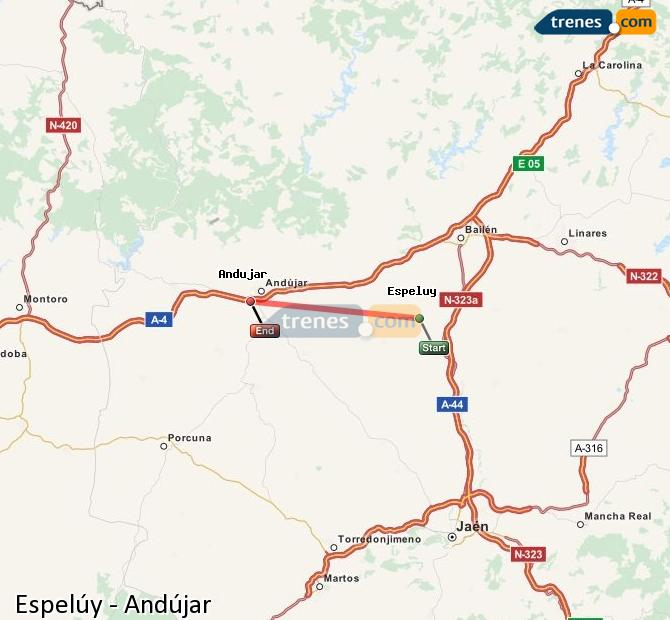 Ampliar mapa Trenes Espelúy Andújar