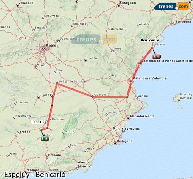 Ampliar mapa Trenes Espelúy Benicarló