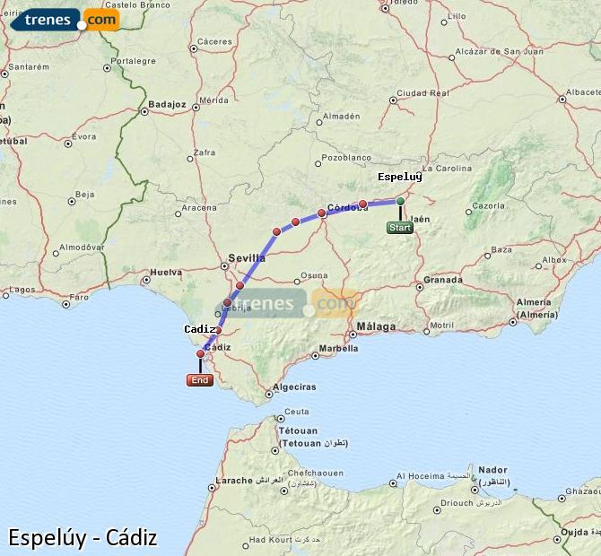 Ampliar mapa Comboios Espelúy Cádiz