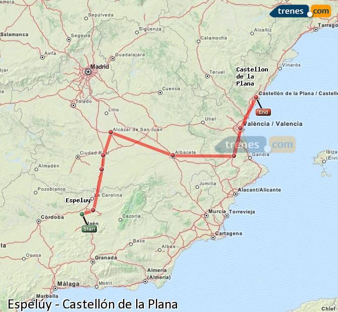 Karte vergrößern Züge Espelúy Castellón