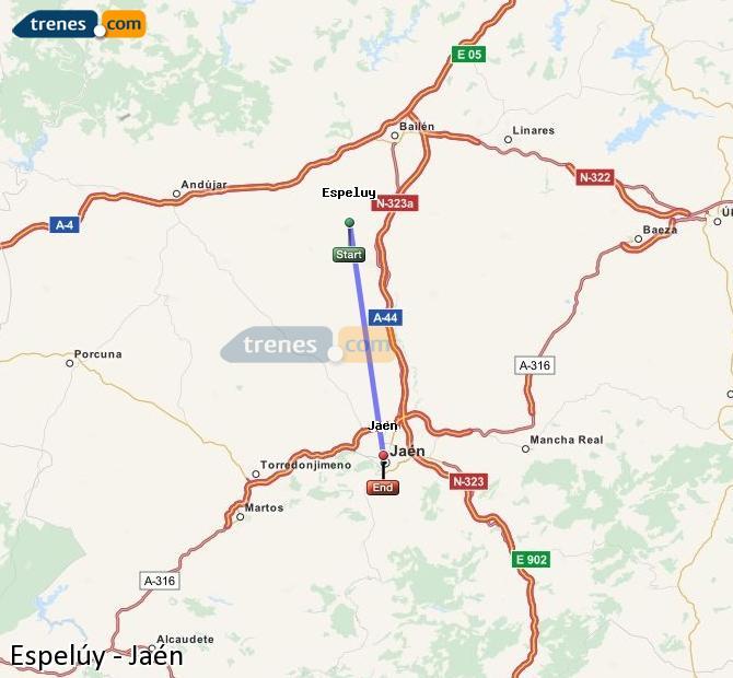 Ampliar mapa Trenes Espelúy Jaén