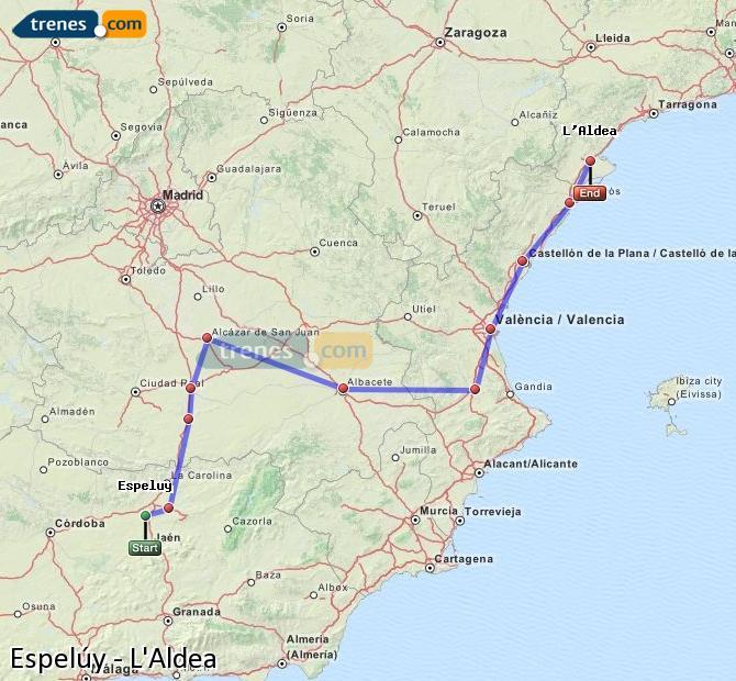 Ingrandisci la mappa Treni Espelúy L'Aldea