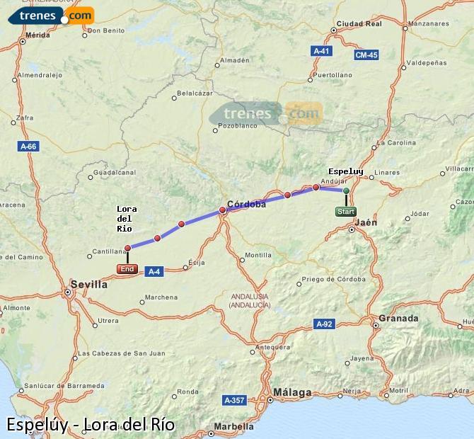 Ampliar mapa Comboios Espelúy Lora del Río