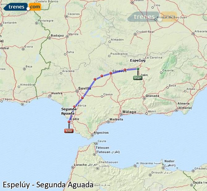 Ampliar mapa Trenes Espelúy Segunda Aguada
