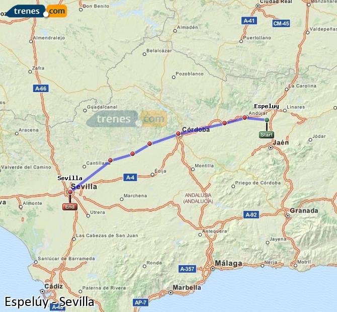 Ingrandisci la mappa Treni Espelúy Sevilla