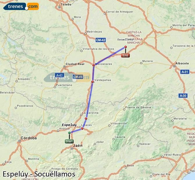 Ampliar mapa Comboios Espelúy Socuéllamos