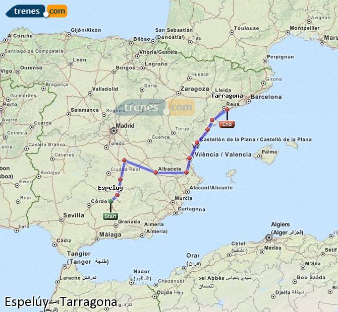 Ingrandisci la mappa Treni Espelúy Tarragona