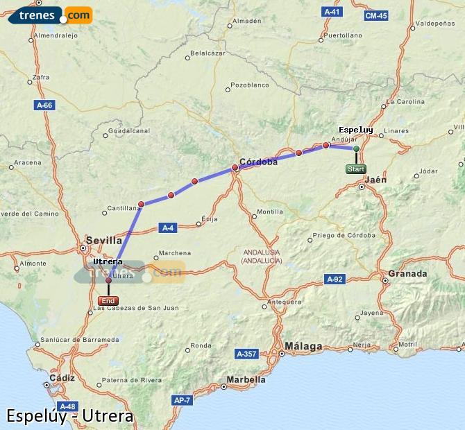 Ingrandisci la mappa Treni Espelúy Utrera