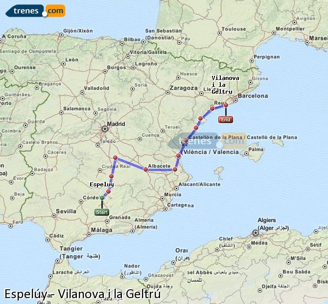 Ampliar mapa Comboios Espelúy Vilanova i la Geltrú