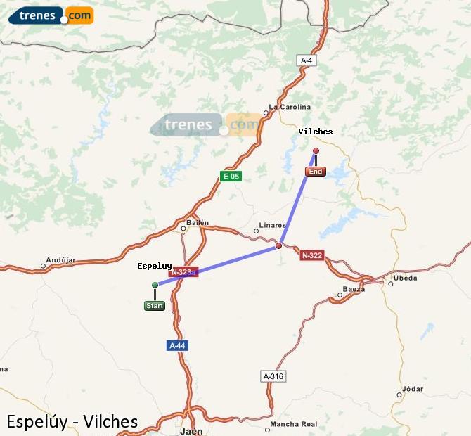 Ampliar mapa Trenes Espelúy Vilches