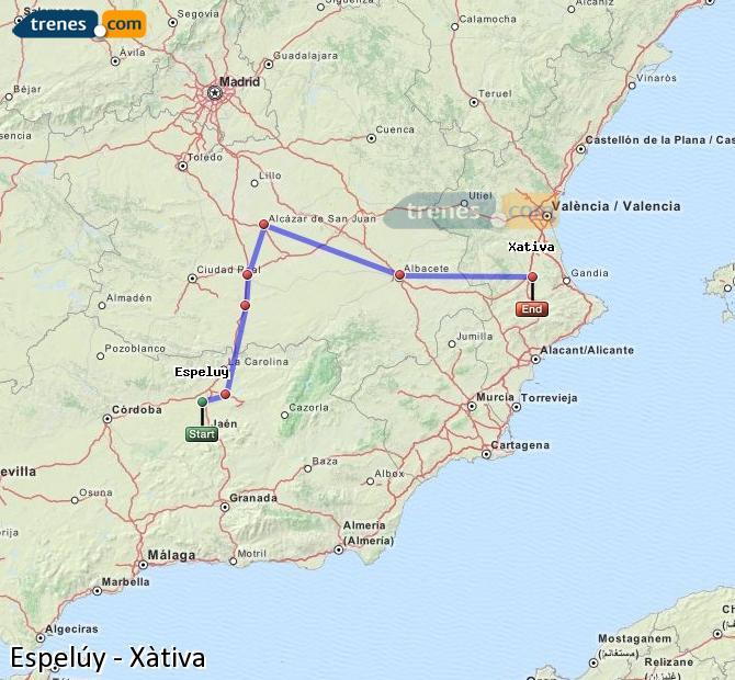 Ampliar mapa Trenes Espelúy Xàtiva
