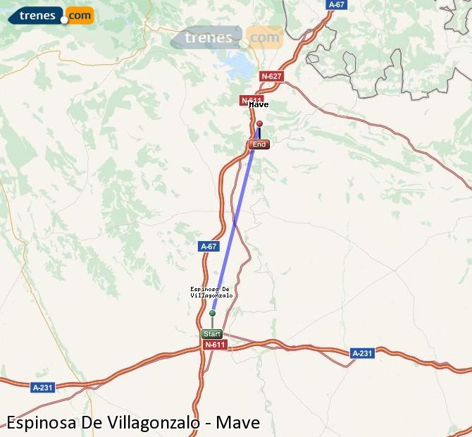 Karte vergrößern Züge Espinosa De Villagonzalo Mave