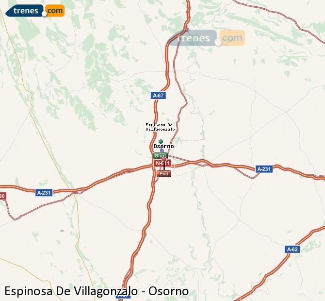 Enlarge map Trains Spinosa De Villagonzalo to Osorno