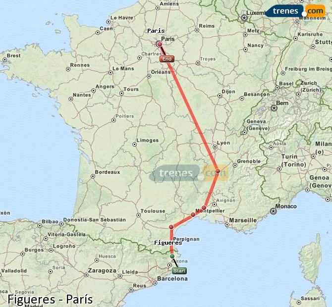Ampliar mapa Comboios Figueres Paris