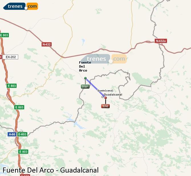 Ingrandisci la mappa Treni Fuente Del Arco Guadalcanal
