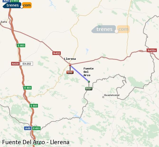 Ingrandisci la mappa Treni Fuente Del Arco Llerena