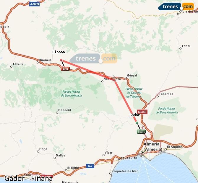 Ingrandisci la mappa Treni Gádor Fiñana