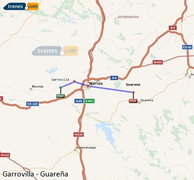 Ingrandisci la mappa Treni Garrovilla Guareña