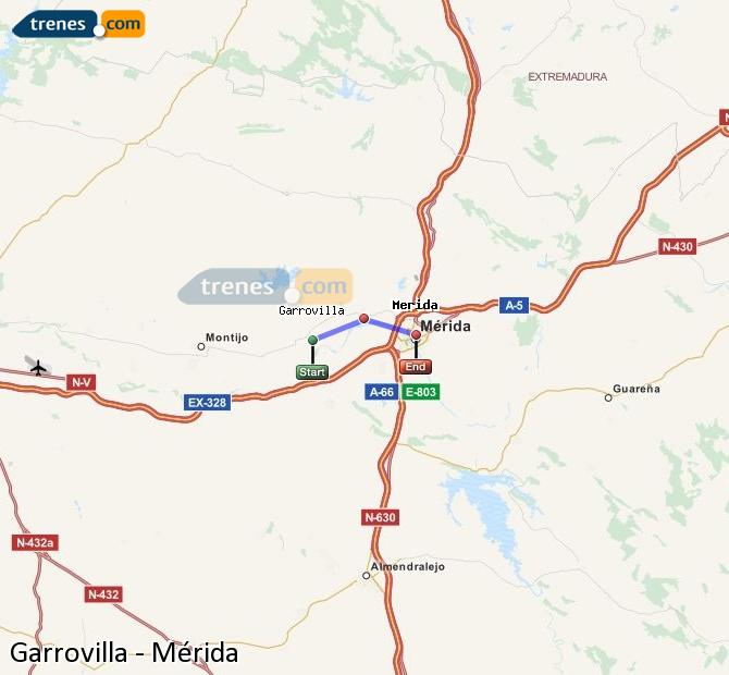 Ingrandisci la mappa Treni Garrovilla Mérida