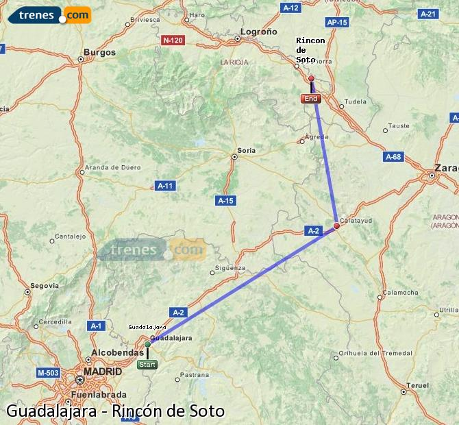 Ingrandisci la mappa Treni Guadalajara Rincón de Soto