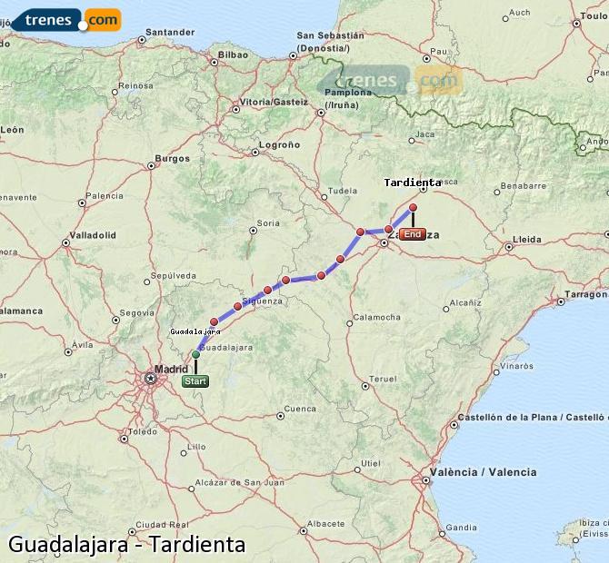 Ampliar mapa Trenes Guadalajara Tardienta