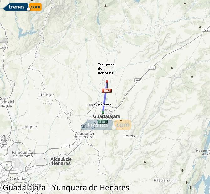 Ingrandisci la mappa Treni Guadalajara Yunquera de Henares
