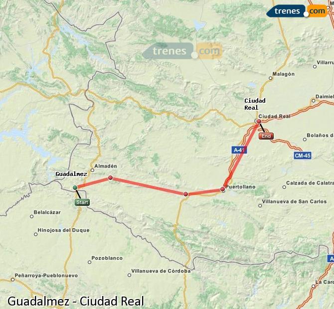 Ampliar mapa Comboios Guadalmez Ciudad Real