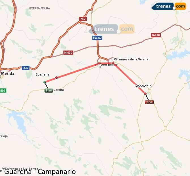 Ingrandisci la mappa Treni Guareña Campanario