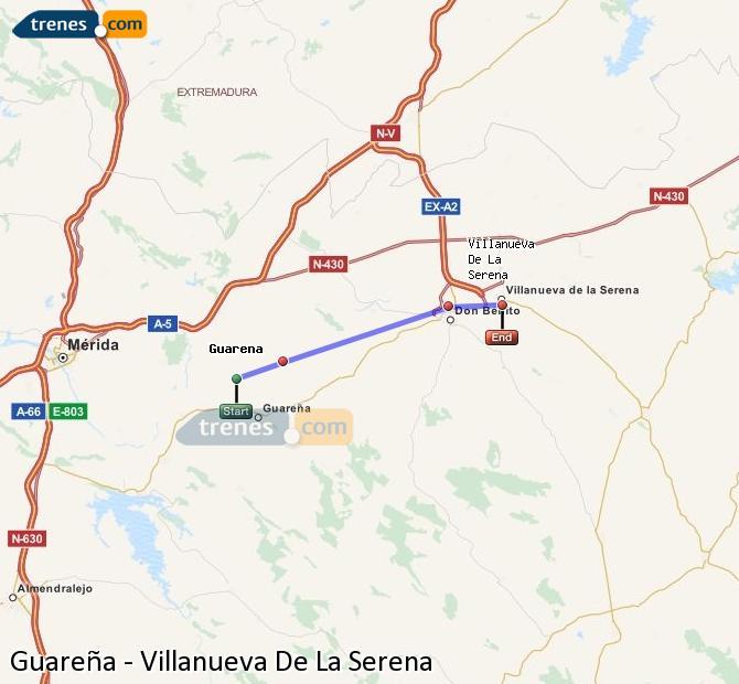 Ingrandisci la mappa Treni Guareña Villanueva De La Serena