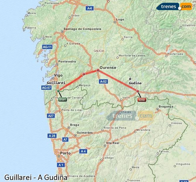 Ingrandisci la mappa Treni Guillarei A Gudiña