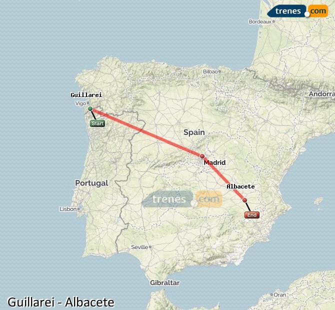 Ingrandisci la mappa Treni Guillarei Albacete
