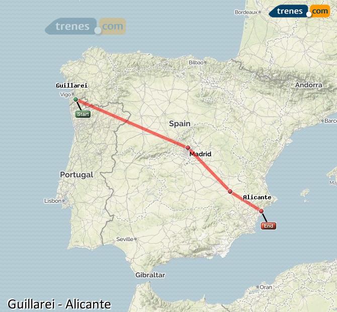 Ingrandisci la mappa Treni Guillarei Alicante