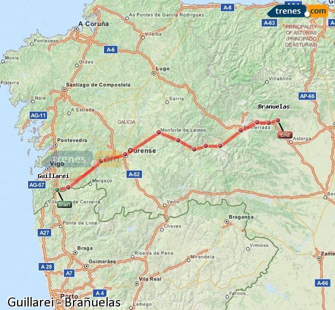 Ingrandisci la mappa Treni Guillarei Brañuelas