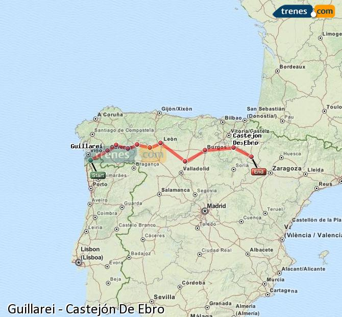 Ingrandisci la mappa Treni Guillarei Castejón De Ebro