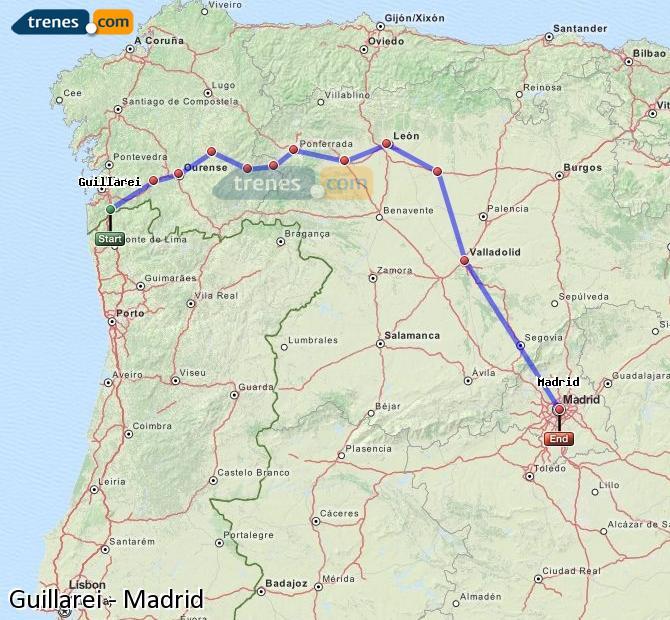 Ingrandisci la mappa Treni Guillarei Madrid