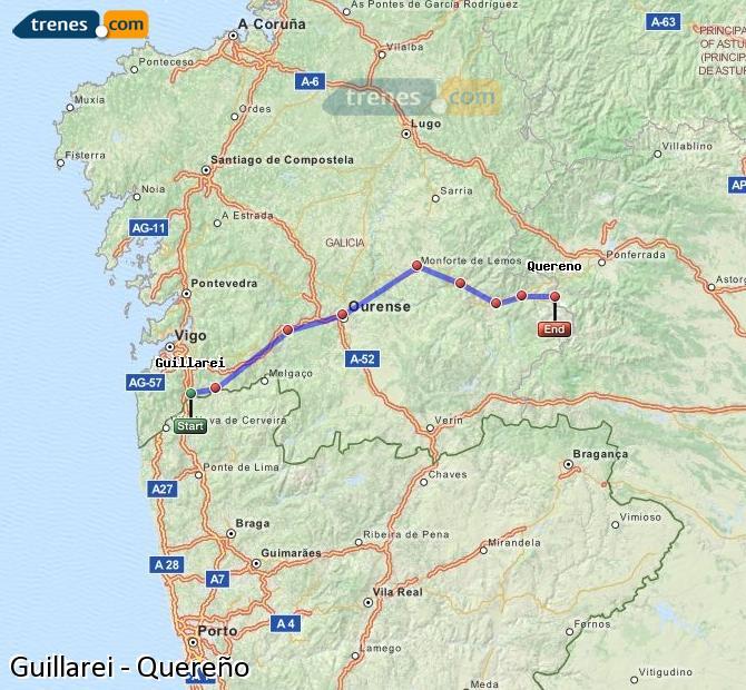 Ingrandisci la mappa Treni Guillarei Quereño