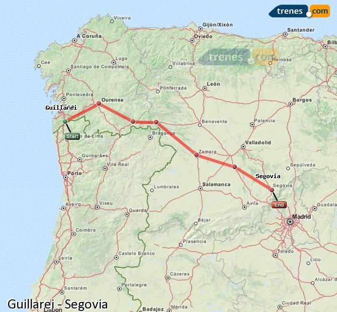 Ingrandisci la mappa Treni Guillarei Segovia